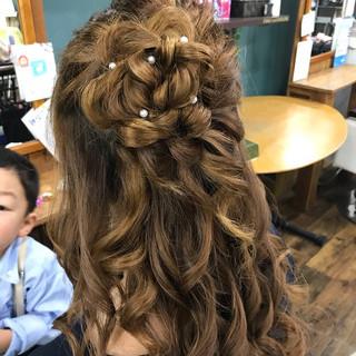 結婚式 ロング デート エレガント ヘアスタイルや髪型の写真・画像 ヘアスタイルや髪型の写真・画像