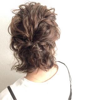 色気 ボブ ヘアアレンジ ハーフアップ ヘアスタイルや髪型の写真・画像 ヘアスタイルや髪型の写真・画像