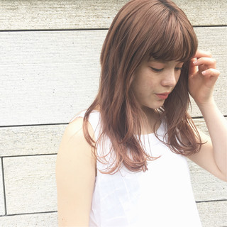 簡単スタイリング ナチュラル ウェット感 セミロング ヘアスタイルや髪型の写真・画像