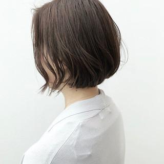 ナチュラル デート ボブ オフィス ヘアスタイルや髪型の写真・画像