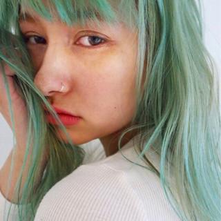 カラーバター ラフ ブリーチ ストリート ヘアスタイルや髪型の写真・画像 ヘアスタイルや髪型の写真・画像