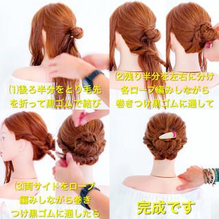 夏 お祭り 大人かわいい 簡単ヘアアレンジ ヘアスタイルや髪型の写真・画像