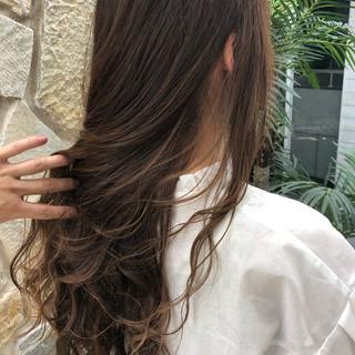 エレガント 外国人風 ロング #インナーカラー ヘアスタイルや髪型の写真・画像
