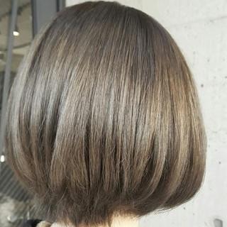 色気 グレージュ ボブ ショートボブ ヘアスタイルや髪型の写真・画像