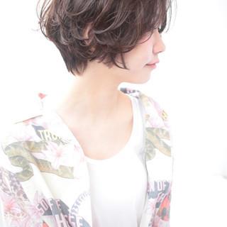 ショート マッシュ ショートボブ 似合わせ ヘアスタイルや髪型の写真・画像