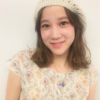簡単ヘアアレンジ 涼しげ ミディアム 夏 ヘアスタイルや髪型の写真・画像
