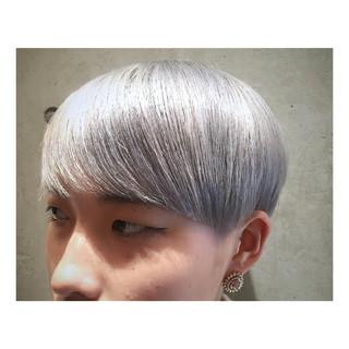 春 ショート ストリート 透明感 ヘアスタイルや髪型の写真・画像