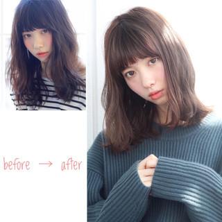 小顔 ニュアンス こなれ感 ナチュラル ヘアスタイルや髪型の写真・画像 ヘアスタイルや髪型の写真・画像