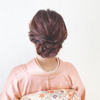 お呼ばれ 結婚式 着物 エレガント ヘアスタイルや髪型の写真・画像