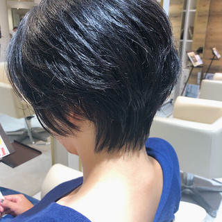 ナチュラル 小顔ショート ショート ナチュラル可愛い ヘアスタイルや髪型の写真・画像