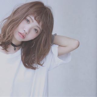 外国人風 抜け感 ストリート ミディアム ヘアスタイルや髪型の写真・画像