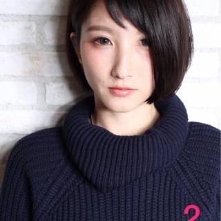 黒髪 大人かわいい ショート モード ヘアスタイルや髪型の写真・画像