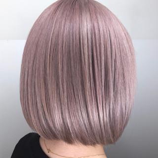 ブロンドカラー ボブ モード ヘアカラー ヘアスタイルや髪型の写真・画像