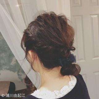 ゆるふわ 簡単ヘアアレンジ デート ミディアム ヘアスタイルや髪型の写真・画像