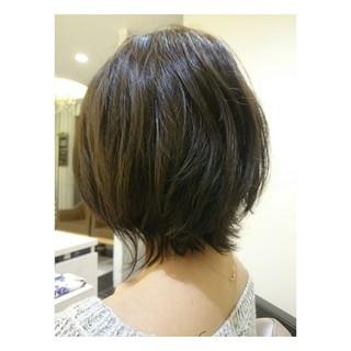 透明感 モード 秋 アッシュ ヘアスタイルや髪型の写真・画像