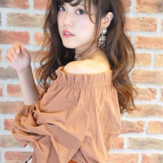 斜め前髪 秋 大人かわいい 色気 ヘアスタイルや髪型の写真・画像