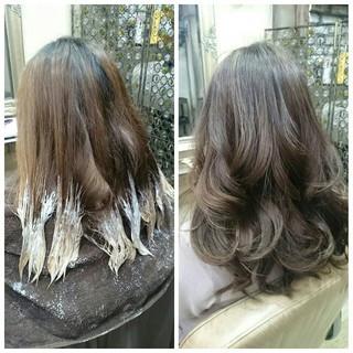 ハイライト 外国人風 ガーリー アッシュ ヘアスタイルや髪型の写真・画像
