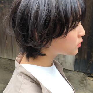 マッシュウルフ ショート ウルフ ウルフカット ヘアスタイルや髪型の写真・画像