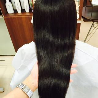 縮毛矯正 ロング パーマ ストレート ヘアスタイルや髪型の写真・画像