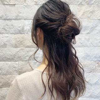 結婚式 ハーフアップ ロング ヘアアレンジ ヘアスタイルや髪型の写真・画像 ヘアスタイルや髪型の写真・画像