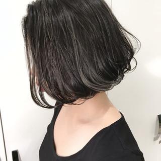 外国人風 ハイライト バレイヤージュ ショート ヘアスタイルや髪型の写真・画像