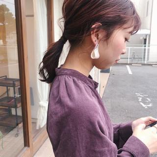 ヘアアレンジ ナチュラル 大人かわいい ピンク ヘアスタイルや髪型の写真・画像