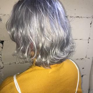 ハイトーン ブリーチ モード 外国人風 ヘアスタイルや髪型の写真・画像