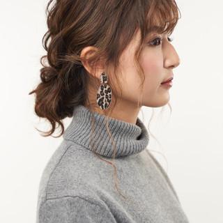 シニヨン ロング ヘアアレンジ 可愛い ヘアスタイルや髪型の写真・画像