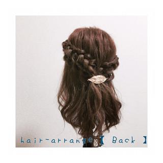 簡単ヘアアレンジ 三つ編み ショート セミロング ヘアスタイルや髪型の写真・画像