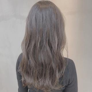 透明感カラー グレージュ ナチュラル セミロング ヘアスタイルや髪型の写真・画像 ヘアスタイルや髪型の写真・画像