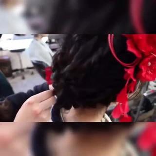 エレガント 巻き動画 成人式 ヘアアレンジ ヘアスタイルや髪型の写真・画像
