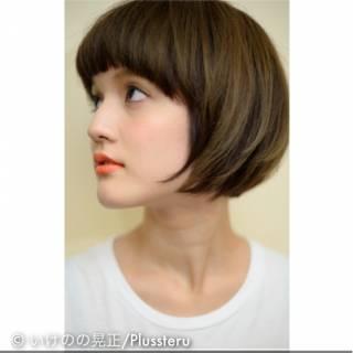 アッシュ ナチュラル マット ストレート ヘアスタイルや髪型の写真・画像
