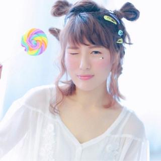 ハロウィン ヘアアレンジ 女子会 波ウェーブ ヘアスタイルや髪型の写真・画像