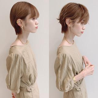 大人ショート 簡単ヘアアレンジ 大人女子 ナチュラル ヘアスタイルや髪型の写真・画像