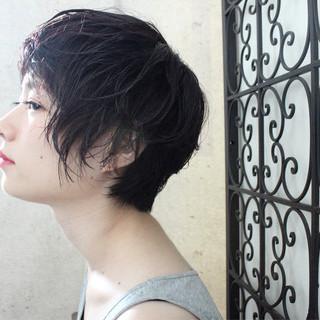 ショート ニュアンス 透明感 ベリーショート ヘアスタイルや髪型の写真・画像