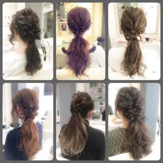 波ウェーブ 簡単ヘアアレンジ ショート ローポニーテール ヘアスタイルや髪型の写真・画像 ヘアスタイルや髪型の写真・画像