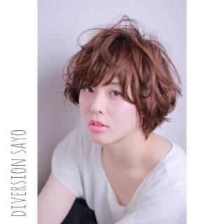 ゆるふわ ショート ウルフカット レイヤーカット ヘアスタイルや髪型の写真・画像