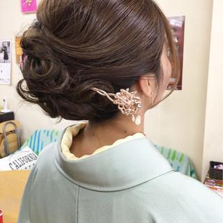 エレガント ヘアアレンジ ロング 上品 ヘアスタイルや髪型の写真・画像