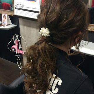 結婚式 ナチュラル ポニーテール ヘアアレンジ ヘアスタイルや髪型の写真・画像 ヘアスタイルや髪型の写真・画像
