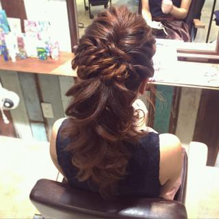 ゆるふわ ポニーテール 結婚式 外国人風 ヘアスタイルや髪型の写真・画像 ヘアスタイルや髪型の写真・画像