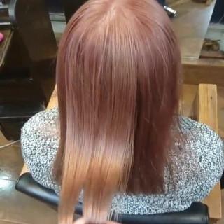 ブリーチ ハイトーン ピンク ガーリー ヘアスタイルや髪型の写真・画像
