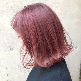 ストリート ミディアム 外国人風カラー ラベンダーピンク ヘアスタイルや髪型の写真・画像