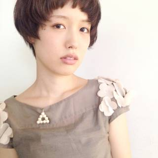ベリーショート ショート マッシュ モテ髪 ヘアスタイルや髪型の写真・画像