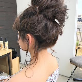 色気 ヘアアレンジ 夏 セミロング ヘアスタイルや髪型の写真・画像