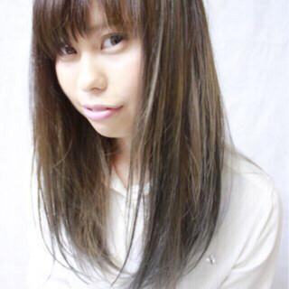 グラデーションカラー ハイライト ロング ストリート ヘアスタイルや髪型の写真・画像