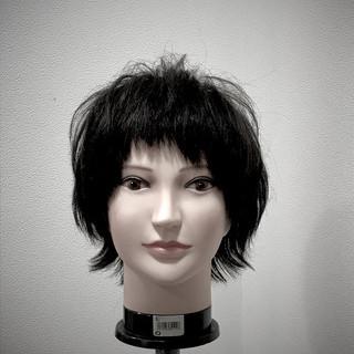 斜め前髪 ストリート ショート マッシュ ヘアスタイルや髪型の写真・画像