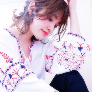 女子会 リラックス デート ガーリー ヘアスタイルや髪型の写真・画像