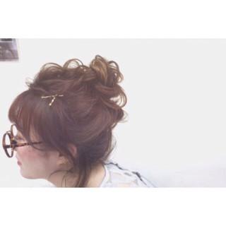 ヘアアレンジ ピュア うぶバング ミディアム ヘアスタイルや髪型の写真・画像