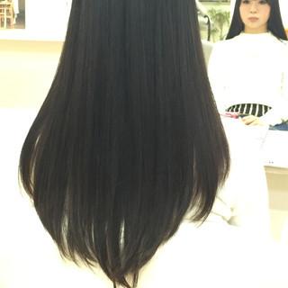 黒髪 ロング 暗髪 簡単 ヘアスタイルや髪型の写真・画像 ヘアスタイルや髪型の写真・画像