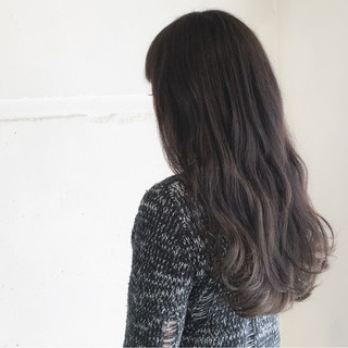 暗髪 モード 冬 外国人風 ヘアスタイルや髪型の写真・画像